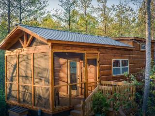 Wooded tiny retreat with private hot tub and shared gazebo/fire pit area (Cabin