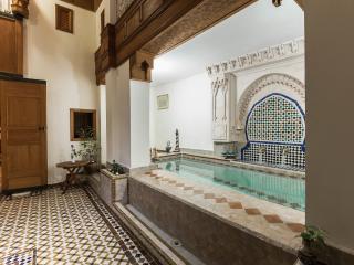 Dar Essoaoude - La fontaine et son bassin/petite piscine à débordement (pool)