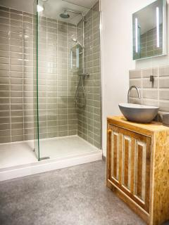 Rainshower ensuite to Rooster room