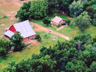 Aerial view of the property.  The nearest neighbor is a very long stone's throw away.