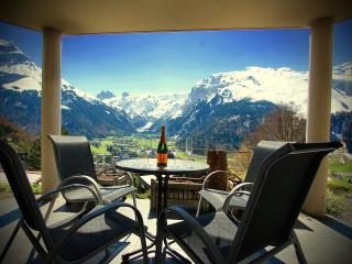 Apartment B  Covered Terrace with Breathtaking Panoramic Views over Engelberg