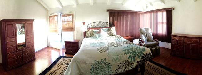 Spacious, brand new master bedroom, stunning views, with balcony and en suite bathroom with jet tub.