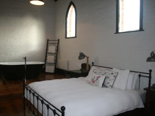 Comfy king size bed, free standing bath with original hall features retained.