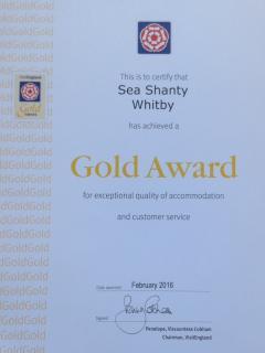 Visit England 4* Gold Grade Award 2016