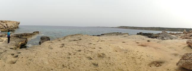 Coastal view from the board walk from Pernera to Protaras