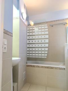 salle de bain - baignoire et douche