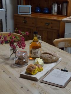 Homemade and local produce are part of the warm welcome at Kelly Mill Cottage