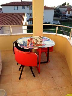 einer der zwei Balkone