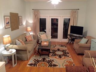 Newly remodeling living room with Sea Salt colored walls!