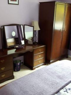 Spacious Double Bedroom, includes Double Wardrobe,  Dressing Table With Stool, Occasional Chair a Tv
