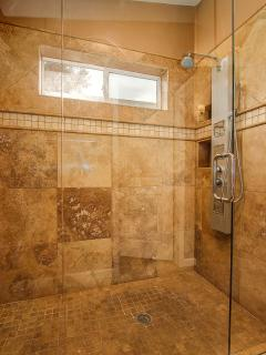 Master Huge Custom walk in rain shower