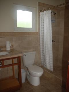 2nd bathroom with large tiled shower