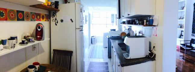 cozinha integrada com saleta e lavanderia