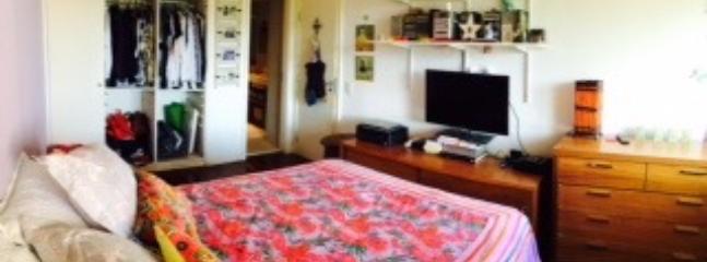 suite com cama de casal, tv a cabo, internet, ar condicionado e amplo banheiro (chuveiro/banheira)