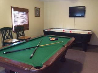 Play some pool or air hockey!