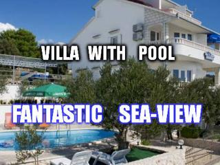 Lovely 2-bedroom app(4+0), sea-view, swimming pool, Sevid
