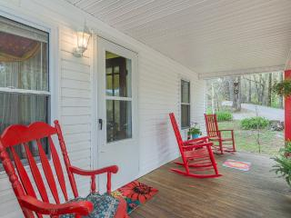 Front porch with 3 rockers for enjoying country lifestyle.
