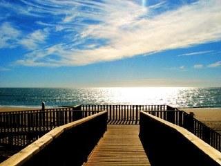 Acceso a la playa de Islantilla