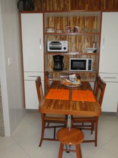 Kitchen table, seats 5, all appliances, dishes, pots, etc.