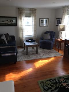 Sunlight on the vintage fir flooring