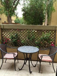 one of 2 patios - southern exposure