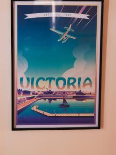 vintage travel poster that was a gift for Christmas. So perfect.