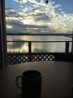 Enjoy an early morning coffee while you catch a sunrise