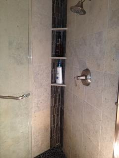 2nd bathroom with tiled shower