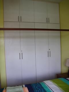 large inbuilt closets in room