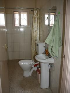 full bathroom with water heater