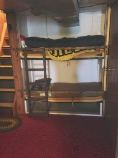 basement child small bunk beds