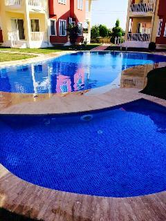 The outside heated pool