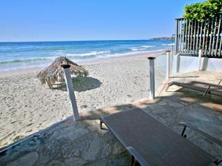 Oceanfront Cottage is on the sand in heart of Laguna Beach Village