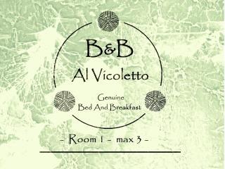 B&B Al Vicoletto Genuine Bed and Breakfast Room 1, Tortoli