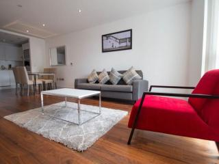 Lincoln Plaza 2B apartment in Tower Hamlets with WiFi & lift.