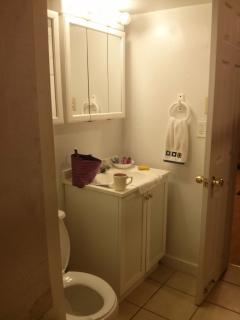 2nd full bathroom with tub and shower.