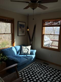 Guest Bedroom sitting area (couch pulls out for additional sleeping).
