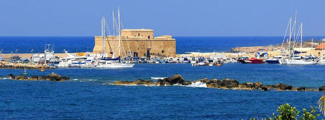 Paphos Castle is located on the edge of Paphos harbour
