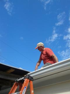 Didier set up the new deck roof
