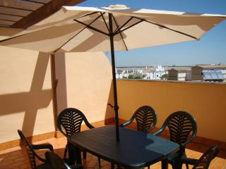 Ático con terraza, parking y piscina en la playa, Sanlúcar de Barrameda