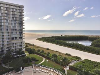 Enjoy relaxing Gulf views from the balcony of this comfortable beachfront condo, Marco Island