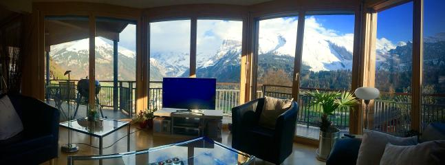 Apartment A  Sitting Area with absolutely Breathtaking Panoramic Views ... the best in Switzerland