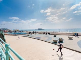 Stunning first floor balcony apartment near Palace Pier, beach and shops