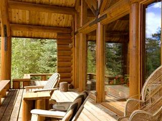 Taos rental cabin private wooded setting hot tub log cabin secluded peaceful, Arroyo Seco