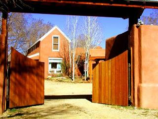 Fully enclosed 1 acre, mountain view, private setting surrounded by trees, Taos