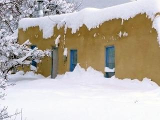 Historic cabin attached to former home of Taos icon, Artist Alfred Hobbs