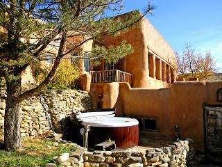 Adobe Hacienda Compound Historic (1790)  6 miles south of Taos Plaza.
