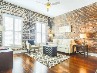 Stay with Lucky Savannah: Loft Living w/ Exposed Brick on Broughton Street