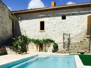 Superb village barn conversion with pool, Ginestas