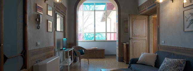 soggiorno piano attico